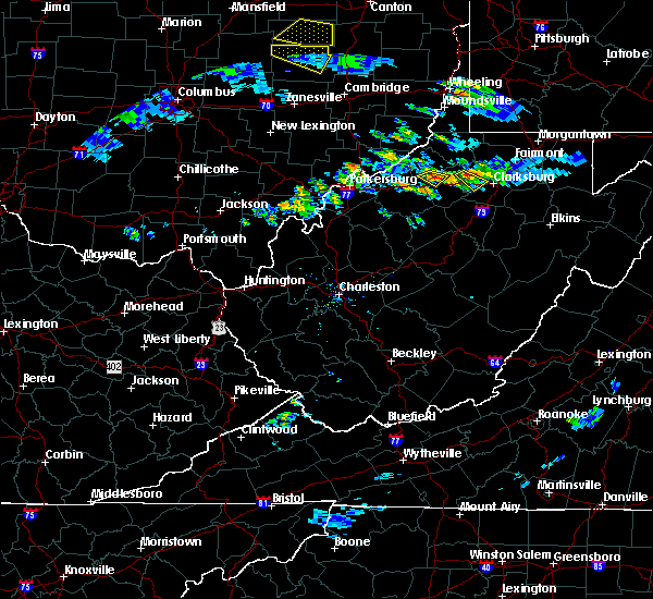 Radar Image for Severe Thunderstorms near West Union, WV at 10/2/2018 4:46 PM EDT