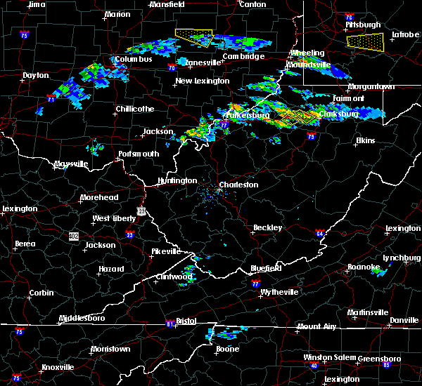 Radar Image for Severe Thunderstorms near West Union, WV at 10/2/2018 5:02 PM EDT