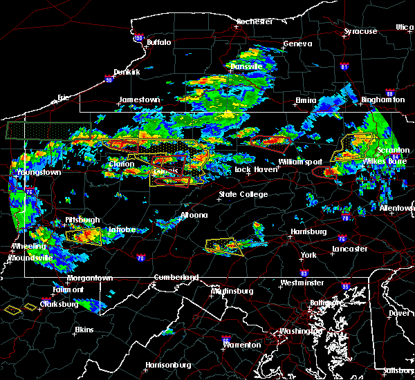 Radar Image for Severe Thunderstorms near Brockway, PA at 10/2/2018 5:06 PM EDT