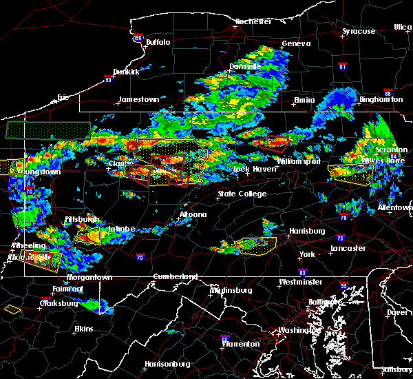 Radar Image for Severe Thunderstorms near Marienville, PA at 10/2/2018 5:21 PM EDT