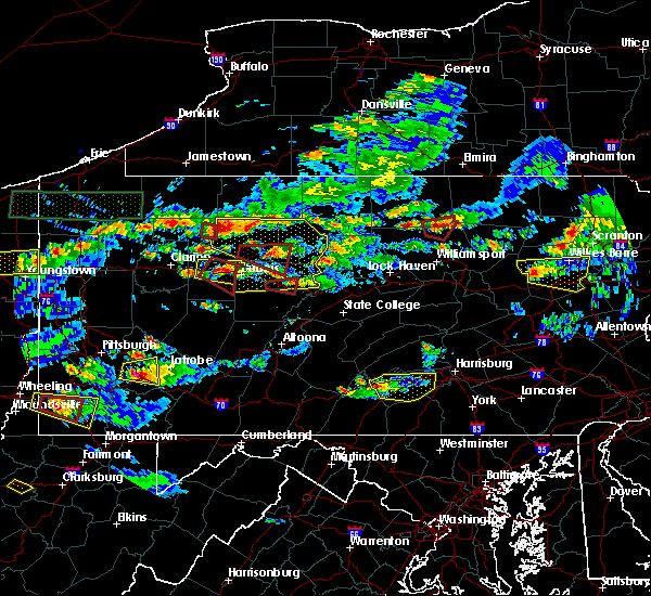 Radar Image for Severe Thunderstorms near Falls Creek, PA at 10/2/2018 5:24 PM EDT