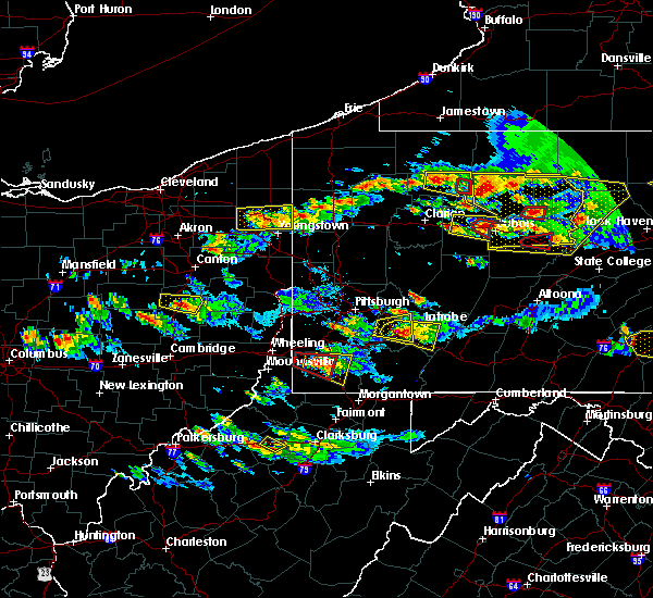 Radar Image for Severe Thunderstorms near Clarksville, PA at 10/2/2018 5:31 PM EDT