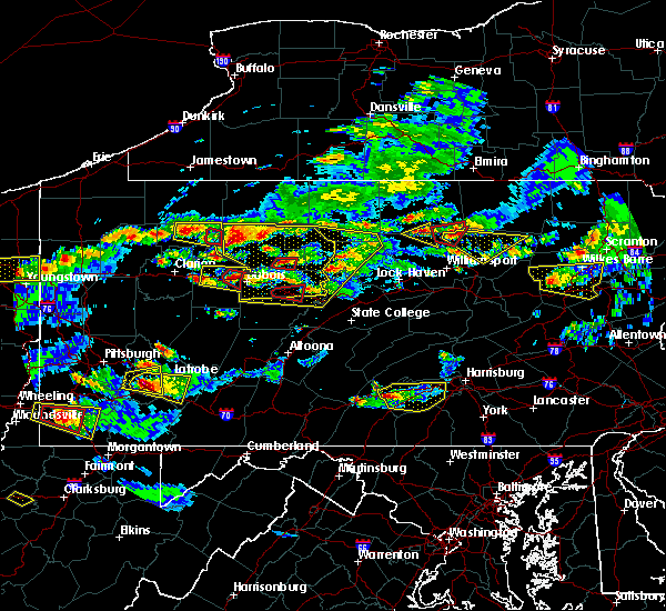 Radar Image for Severe Thunderstorms near Falls Creek, PA at 10/2/2018 5:31 PM EDT