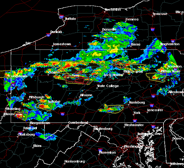 Radar Image for Severe Thunderstorms near Falls Creek, PA at 10/2/2018 5:37 PM EDT