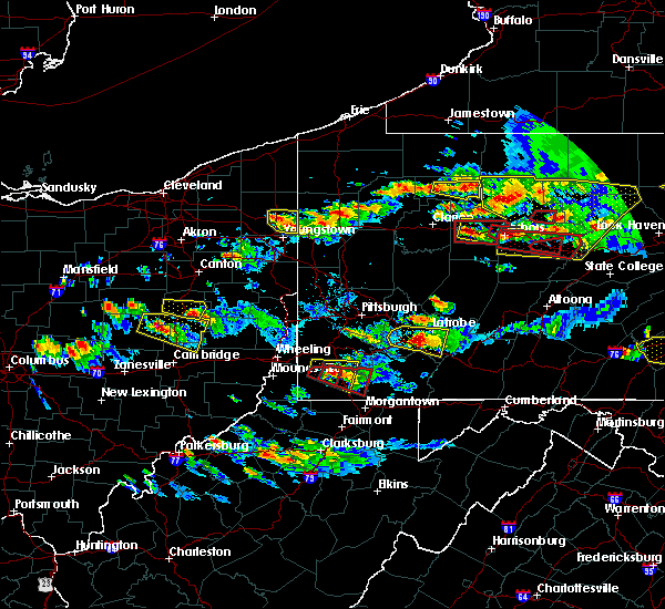 Radar Image for Severe Thunderstorms near Bobtown, PA at 10/2/2018 5:43 PM EDT