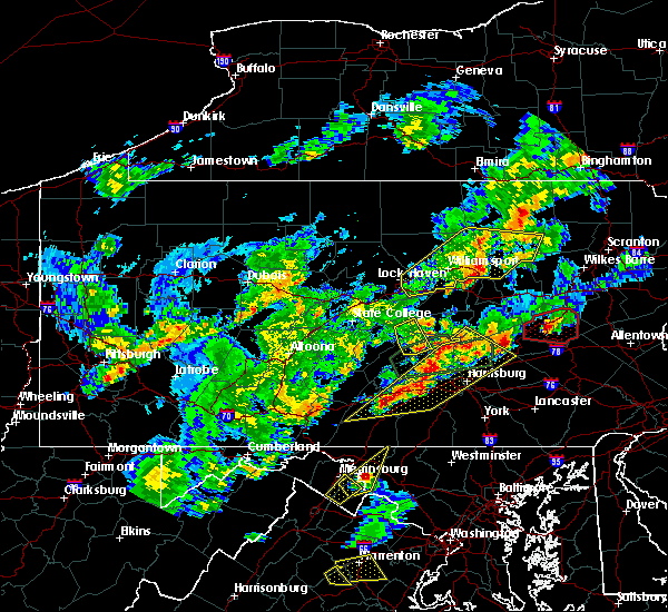 Radar Image for Severe Thunderstorms near Tower City, PA at 6/8/2015 4:32 PM EDT