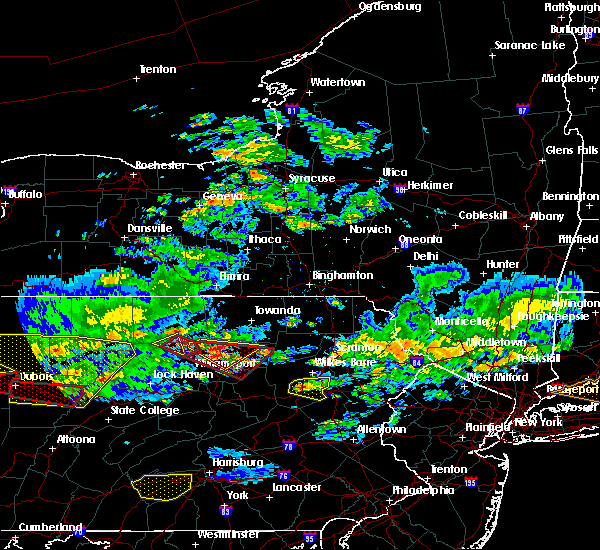 Radar Image for Severe Thunderstorms near Sugar Notch, PA at 10/2/2018 5:52 PM EDT