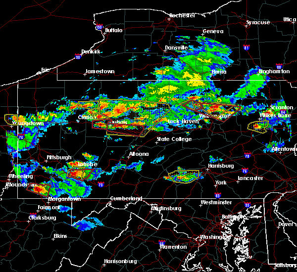Radar Image for Severe Thunderstorms near Brockway, PA at 10/2/2018 5:55 PM EDT