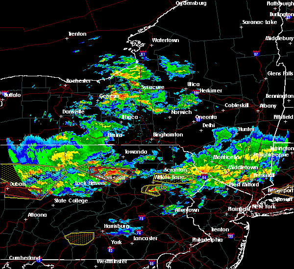 Radar Image for Severe Thunderstorms near Sugar Notch, PA at 10/2/2018 5:59 PM EDT