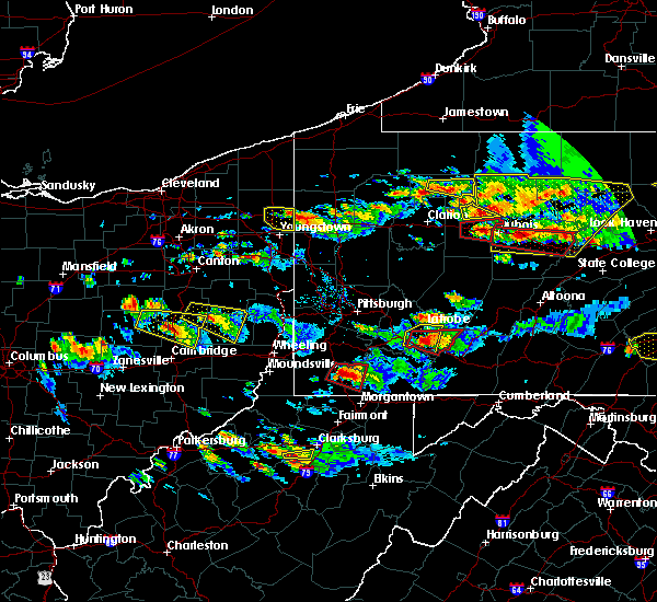 Radar Image for Severe Thunderstorms near Leetonia, OH at 10/2/2018 6:01 PM EDT