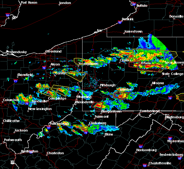 Radar Image for Severe Thunderstorms near Calcutta, OH at 10/2/2018 6:02 PM EDT