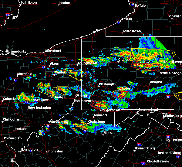 Radar Image for Severe Thunderstorms near South Uniontown, PA at 10/2/2018 6:08 PM EDT
