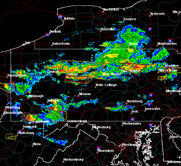 Radar Image for Severe Thunderstorms near Hawk Run, PA at 10/2/2018 6:17 PM EDT