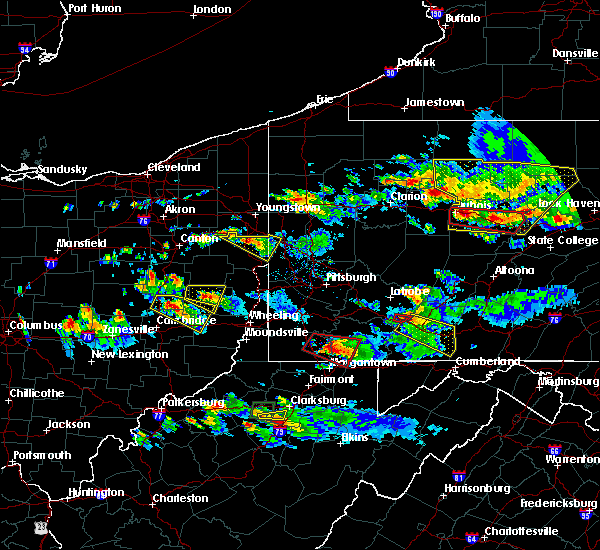 Radar Image for Severe Thunderstorms near Washingtonville, OH at 10/2/2018 6:20 PM EDT