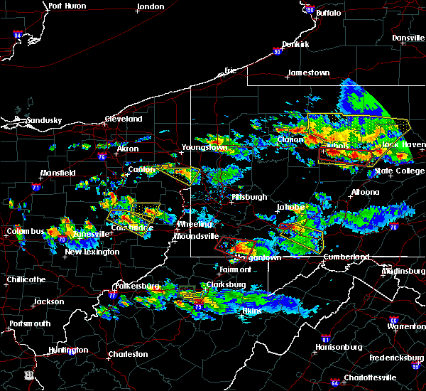 Radar Image for Severe Thunderstorms near Calcutta, OH at 10/2/2018 6:20 PM EDT