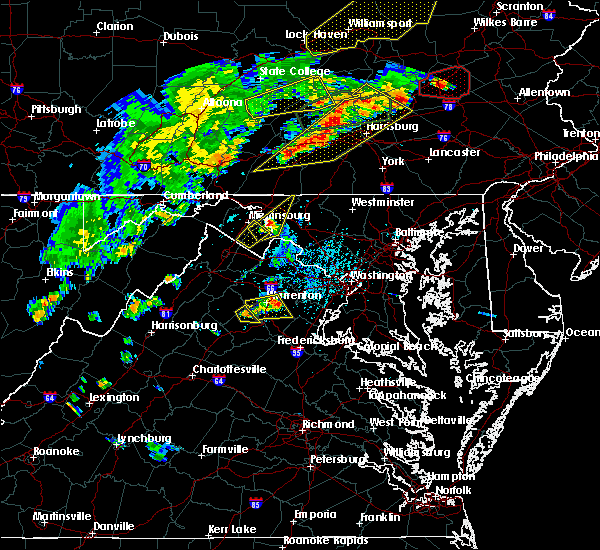 Radar Image for Severe Thunderstorms near Rohrersville, MD at 6/8/2015 4:36 PM EDT
