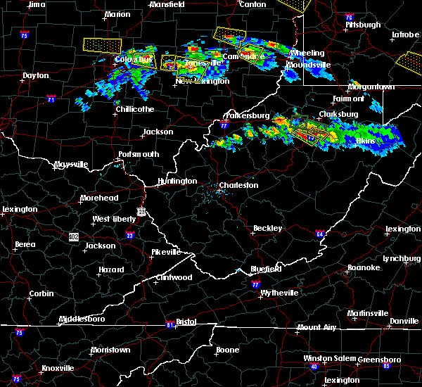 Radar Image for Severe Thunderstorms near Weston, WV at 10/2/2018 6:39 PM EDT