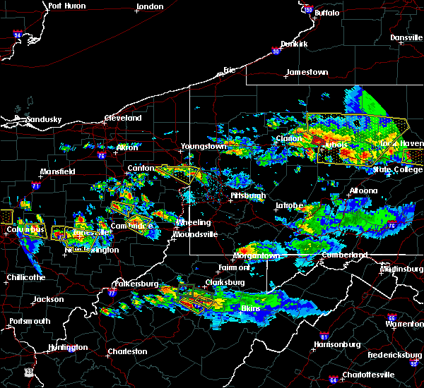 Radar Image for Severe Thunderstorms near Washingtonville, OH at 10/2/2018 6:42 PM EDT