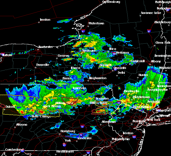 Radar Image for Severe Thunderstorms near East Side, PA at 10/2/2018 6:42 PM EDT