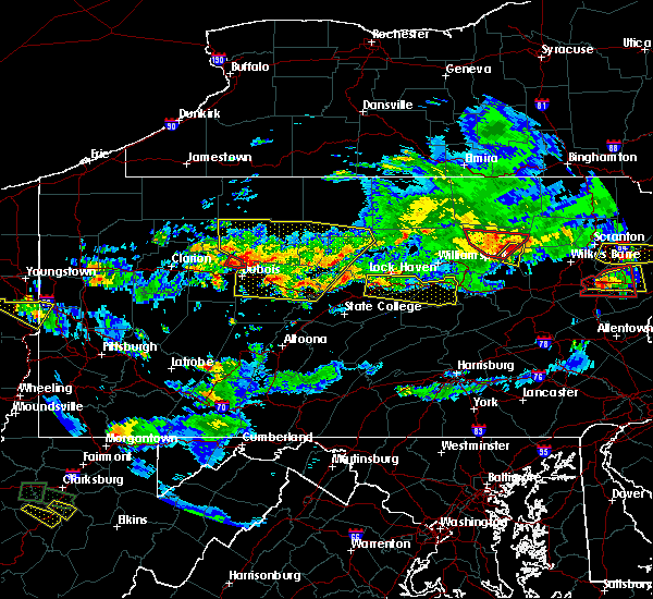 Radar Image for Severe Thunderstorms near Mifflinburg, PA at 10/2/2018 6:42 PM EDT
