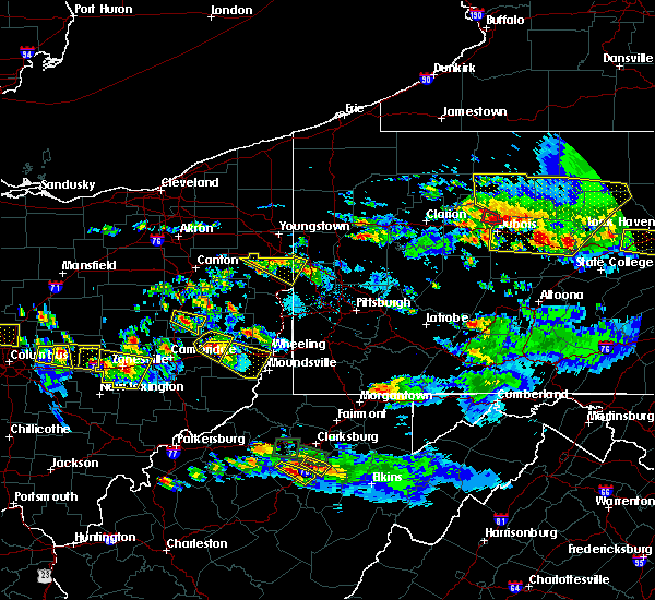 Radar Image for Severe Thunderstorms near Tuscarawas, OH at 10/2/2018 6:45 PM EDT