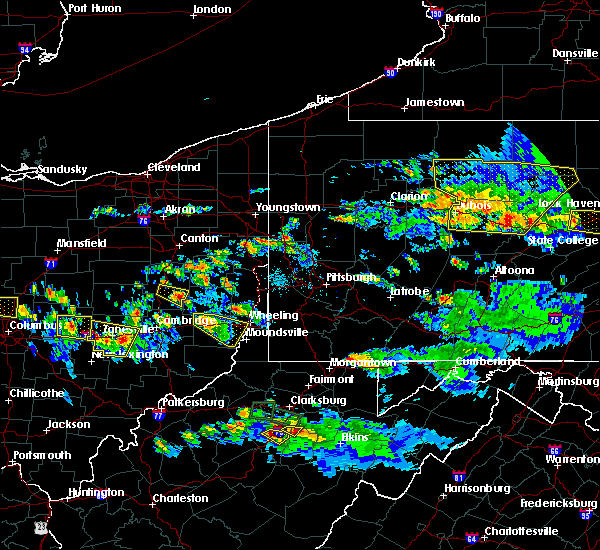 Radar Image for Severe Thunderstorms near Lafferty, OH at 10/2/2018 6:55 PM EDT