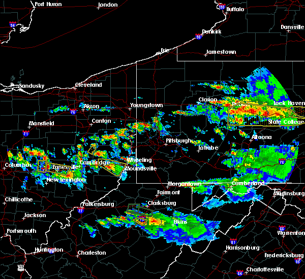 Radar Image for Severe Thunderstorms near Uhrichsville, OH at 10/2/2018 7:10 PM EDT