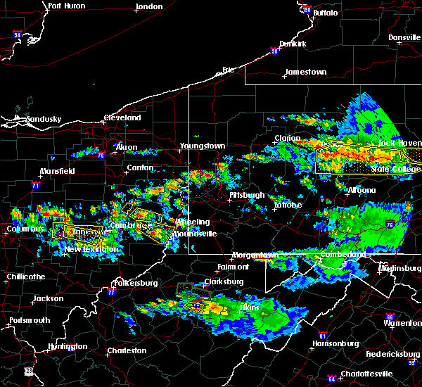 Radar Image for Severe Thunderstorms near Lafferty, OH at 10/2/2018 7:14 PM EDT