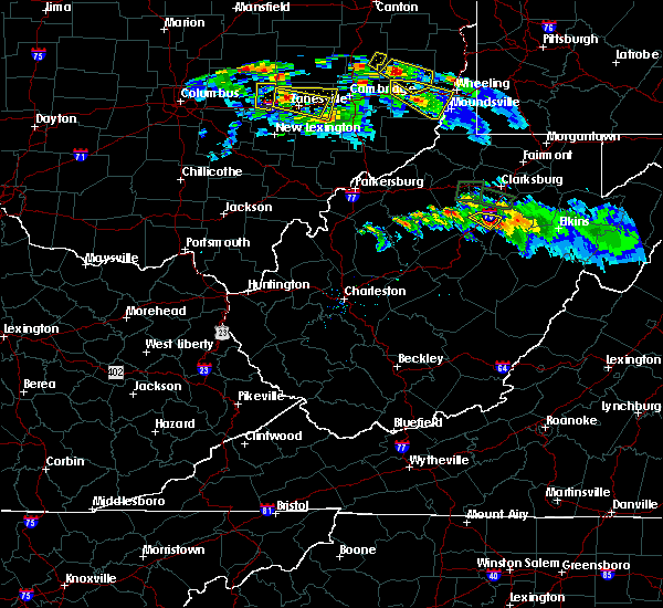 Radar Image for Severe Thunderstorms near Weston, WV at 10/2/2018 7:14 PM EDT