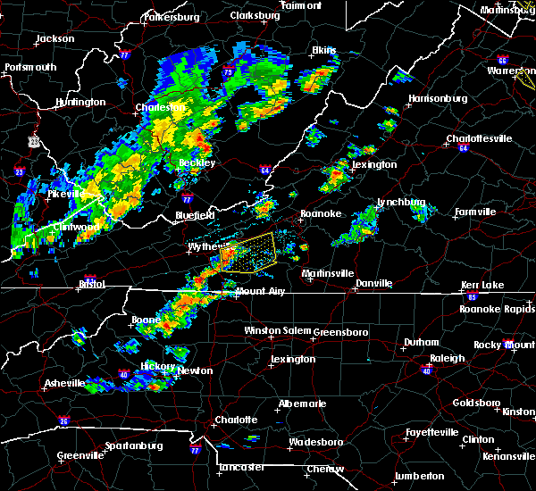 Radar Image for Severe Thunderstorms near Hiwassee, VA at 6/8/2015 4:39 PM EDT