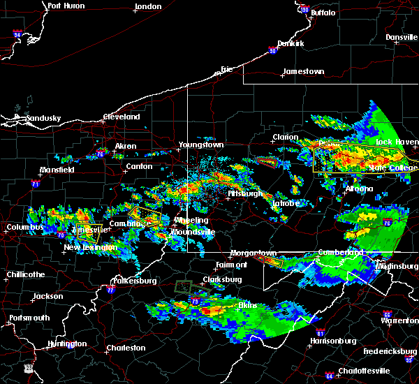 Radar Image for Severe Thunderstorms near Templeton, PA at 10/2/2018 7:40 PM EDT