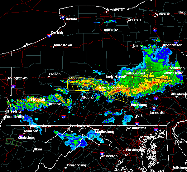 Radar Image for Severe Thunderstorms near Kreamer, PA at 10/2/2018 8:26 PM EDT