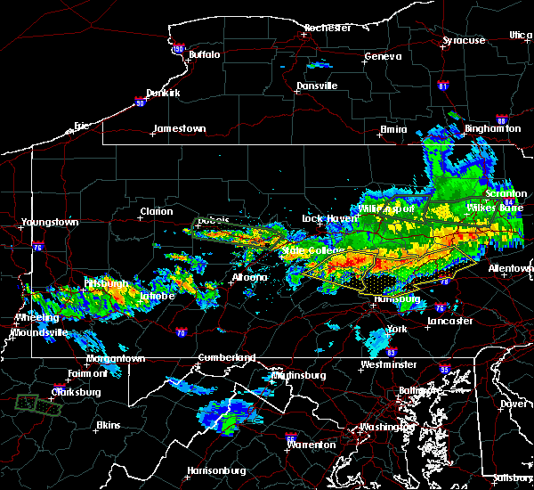 Radar Image for Severe Thunderstorms near Hometown, PA at 10/2/2018 8:41 PM EDT