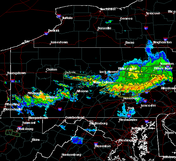 Radar Image for Severe Thunderstorms near Tower City, PA at 10/2/2018 8:51 PM EDT