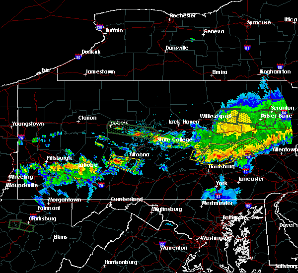 Radar Image for Severe Thunderstorms near New Buffalo, PA at 10/2/2018 9:06 PM EDT