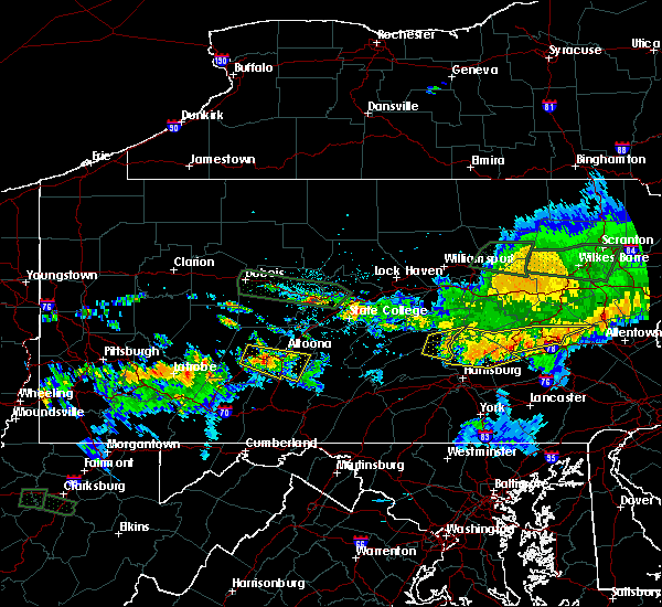 Radar Image for Severe Thunderstorms near New Buffalo, PA at 10/2/2018 9:09 PM EDT