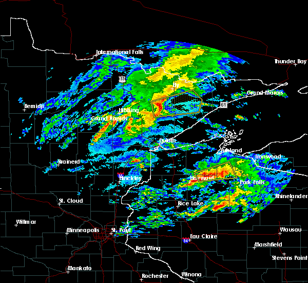 Radar Image for Severe Thunderstorms near Aurora, MN at 10/3/2018 2:57 PM CDT