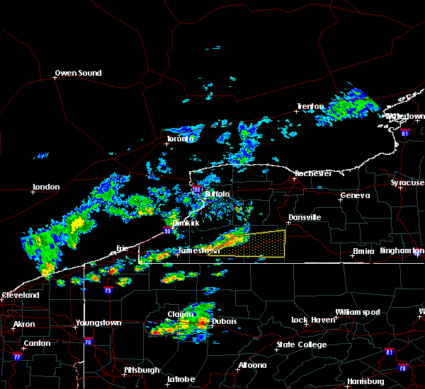 Radar Image for Severe Thunderstorms near Salamanca, NY at 10/6/2018 4:00 PM EDT