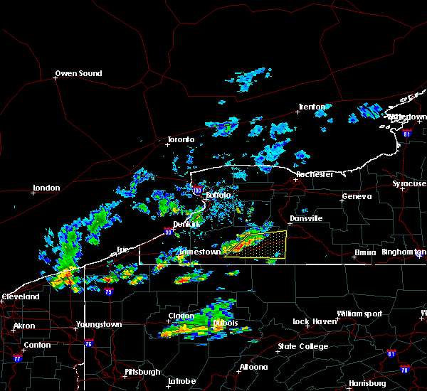 Radar Image for Severe Thunderstorms near Belfast, NY at 10/6/2018 4:20 PM EDT