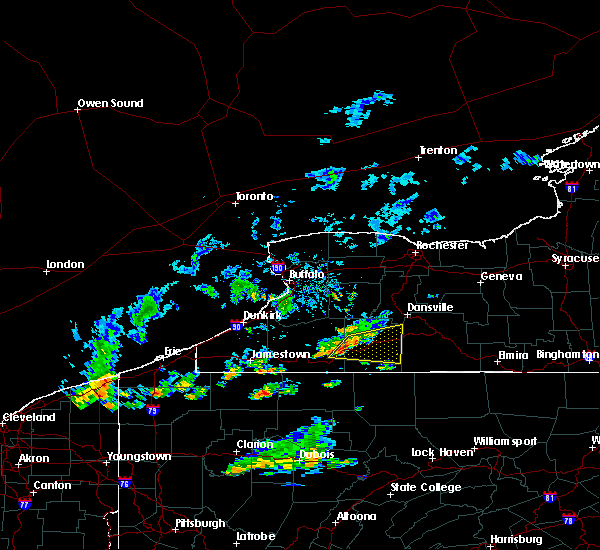Radar Image for Severe Thunderstorms near Belfast, NY at 10/6/2018 4:26 PM EDT