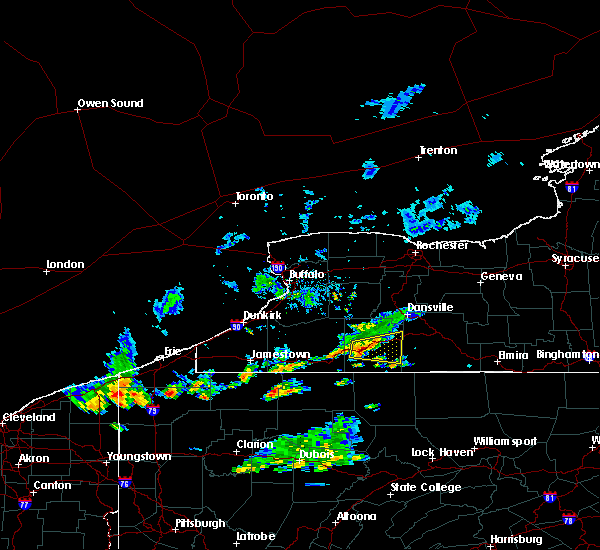Radar Image for Severe Thunderstorms near Scio, NY at 10/6/2018 4:41 PM EDT