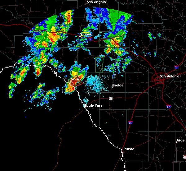 Radar Image for Severe Thunderstorms near Val Verde Park, TX at 10/9/2018 4:09 AM CDT