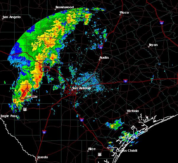 Radar Image for Severe Thunderstorms near Ingram, TX at 10/9/2018 10:03 AM CDT