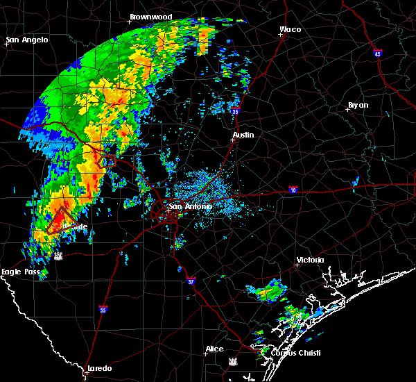 Radar Image for Severe Thunderstorms near Ingram, TX at 10/9/2018 10:07 AM CDT