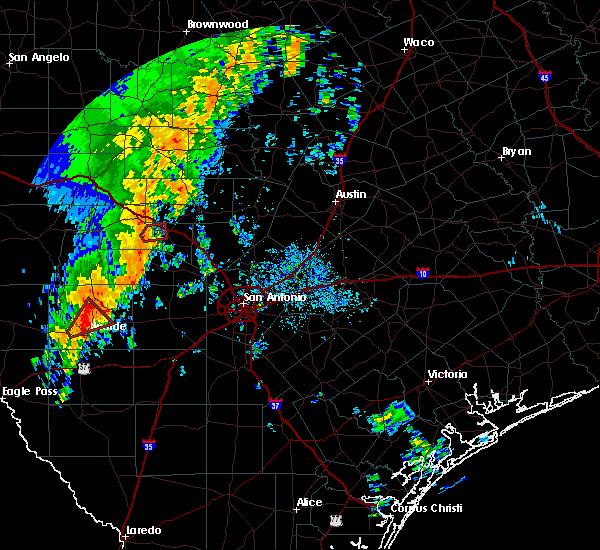 Radar Image for Severe Thunderstorms near Ingram, TX at 10/9/2018 10:13 AM CDT