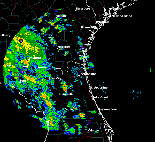 Radar Image for Severe Thunderstorms near Lawtey, FL at 10/10/2018 2:48 PM EDT