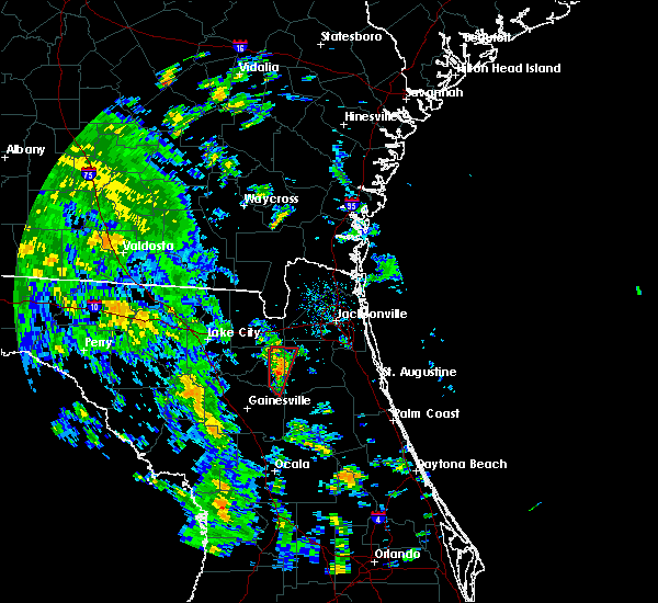 Radar Image for Severe Thunderstorms near Lawtey, FL at 10/10/2018 2:57 PM EDT
