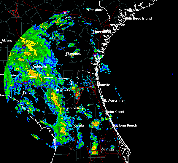 Radar Image for Severe Thunderstorms near Jacksonville, FL at 10/10/2018 3:16 PM EDT