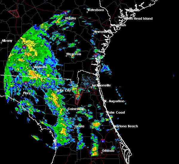 Radar Image for Severe Thunderstorms near Lawtey, FL at 10/10/2018 3:16 PM EDT