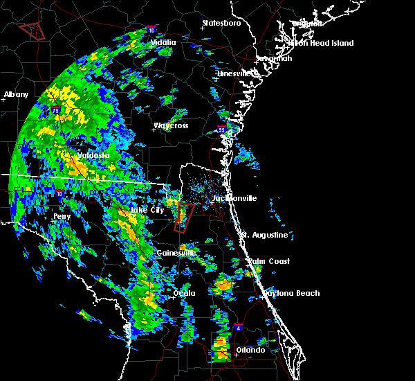 Radar Image for Severe Thunderstorms near Jacksonville, FL at 10/10/2018 3:24 PM EDT